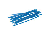 Blue Wax Wires, Triangle, Gauge 14, 2 oz. Box, Item No. 21.552