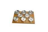 Set of 8 Dies for Crystal Press, Item No. 5499-08