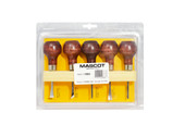 Mascot Miniature Woodworking Set, Palm-Grip Handles, Item No. H863
