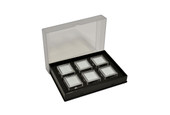 Gem Tray with 6 Boxes, Black, Item No. 61.464