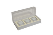 Gem Tray with 3 Boxes, White, Item No. 61.467