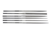 Grobet USA 16cm, 6-pc Needle File Set, Cut 2, Item No. 31.68001