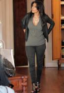 LnA Deep V Tee Shirt in Heather Gray as seen on Kim Kardashian, Megan Fox and Beyonce