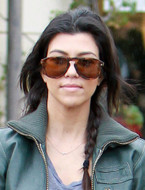 Sugarbean Sideways Cross Necklace in Rose gold as seen on Kourtney Kardashian