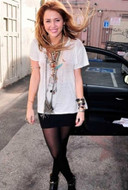 Pleasure Doing Business 5 Band Skirt in Black as seen on Miley Cyrus
