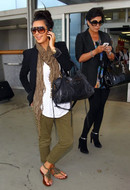 Siwy Denim Marielle Chino Pant in Moss as seen on Kim Kardashian