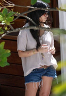Siwy Denim Camilla Cut Off Denim Shorts in Wonder as seen on Kourtney Kardashian