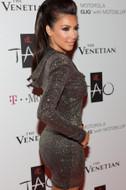Brian Lichtenberg Glitter Hooded Dress as seen on Kim Kardashian