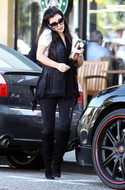 David Lerner Multi Zipper Black Leggings as seen on Kim Kardashian and Paris Hilton