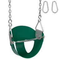 Highback Half Bucket Swing with Chains and Hooks