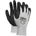 Glove, Memphis Foam Seamless Gray Nylon Shell Blue Foam Latex Dipped Palm and Fingers, 1 dozen