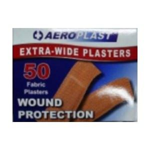 Aeroplast Extra Wide Fabric Plasters - 50 packet