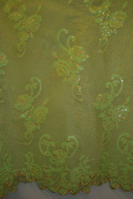 Organza & Net with Sequins - FL49 Light Green