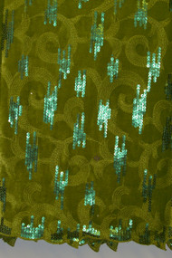Velvet Lace with Sequins - Green VEL16