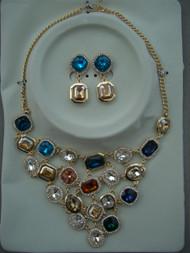Multi Coloured Jewel Necklace