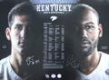 Willis & Hawkins schedule poster signed by both.