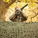 Trophy Series Camo Netting Woodland Fire Rated 10x20