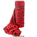 "Red/Black ""Devil Camo Netting - Ultra-Lite, Fire Rated Bulk Roll"