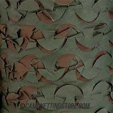 Woodland Camo Netting - Pattern Closeup