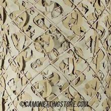 Desert Military Camo Netting - Pattern Closeup