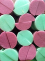 Wicked green and pink half round sponges