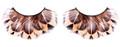 Brown Feather Animal Eyelashes