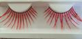 Fabulous extra long Red with Glitter Eyelashes