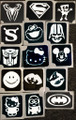 Heros & Characters Stencils