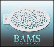 BAM Spirals stencil