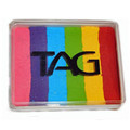 TAG Regular Rainbow Split Cake- applies easily with a Wicked Sponge- dab, don't drag and the paint will blend as you apply it.