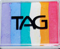 TAG Fairy Floss Rainbow Split Cake- Very pretty! Lilac, Powder Blue, Teal, White, Golden Orange & Pink