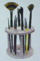 Brush caddy holds up to 49 brushes