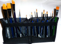 12 fabulous brushes and brush wallet. Each kit containd 1 each of the following:- #2 Script Liner (not pictured in wallet -see image above)  Rake brush Roymac Rev Round #1,2,4,6 & 8 Roymac Rev Small Petal Brush TAG #6 Angle TAG #12 Filbert TAG #12 Flat It's a great start-up kit!