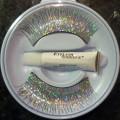 Holographic Silver False Eyelashes with adhesive.