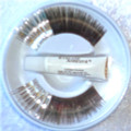 Half Silver half Black Eyelashes with adhesive