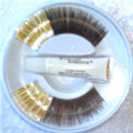 Half Gold half Black Eyelashes with adhesive