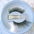 Extra Long Black Sweep Eyelashes with adhesive
