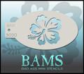 BAM Hibiscus stencil 3020