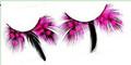Pink Spot & Black Feather Eyelashes