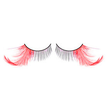 Long Red Feather Eyelashes