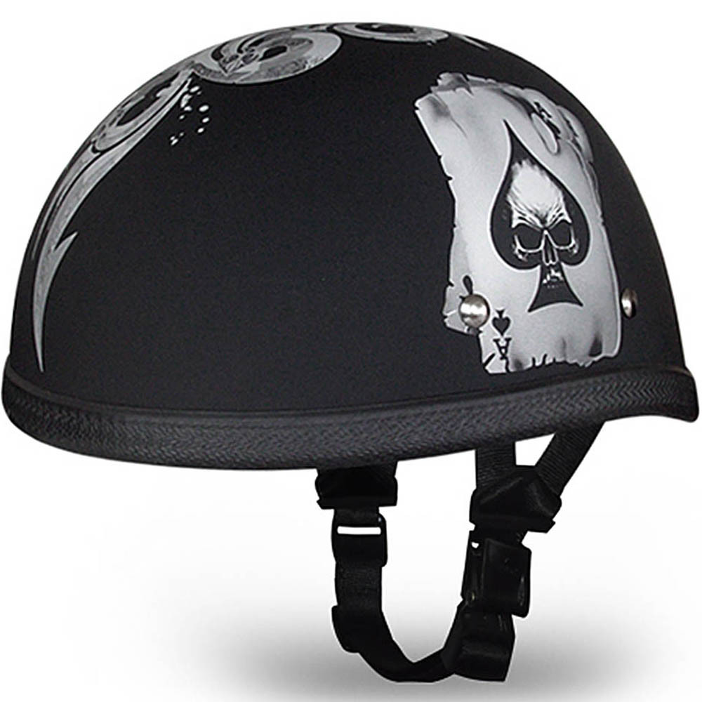 Spades Novelty Motorcycle Helmet | Eagle Novelty Helmet by Daytona Sizes XS-2XL
