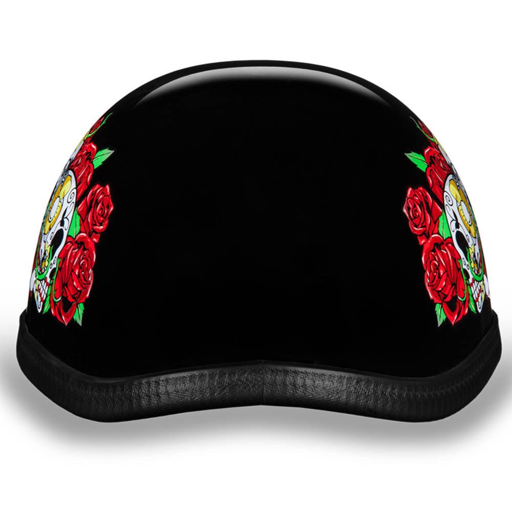 Novelty Helmet - Rose Skulls by Daytona - 6002RS
