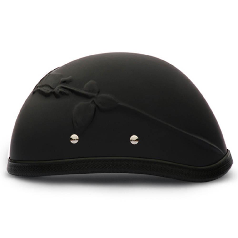 3D Rose Novelty Motorcycle Helmet | Novelty Helmet by Daytona - XS S M L XL 2XL