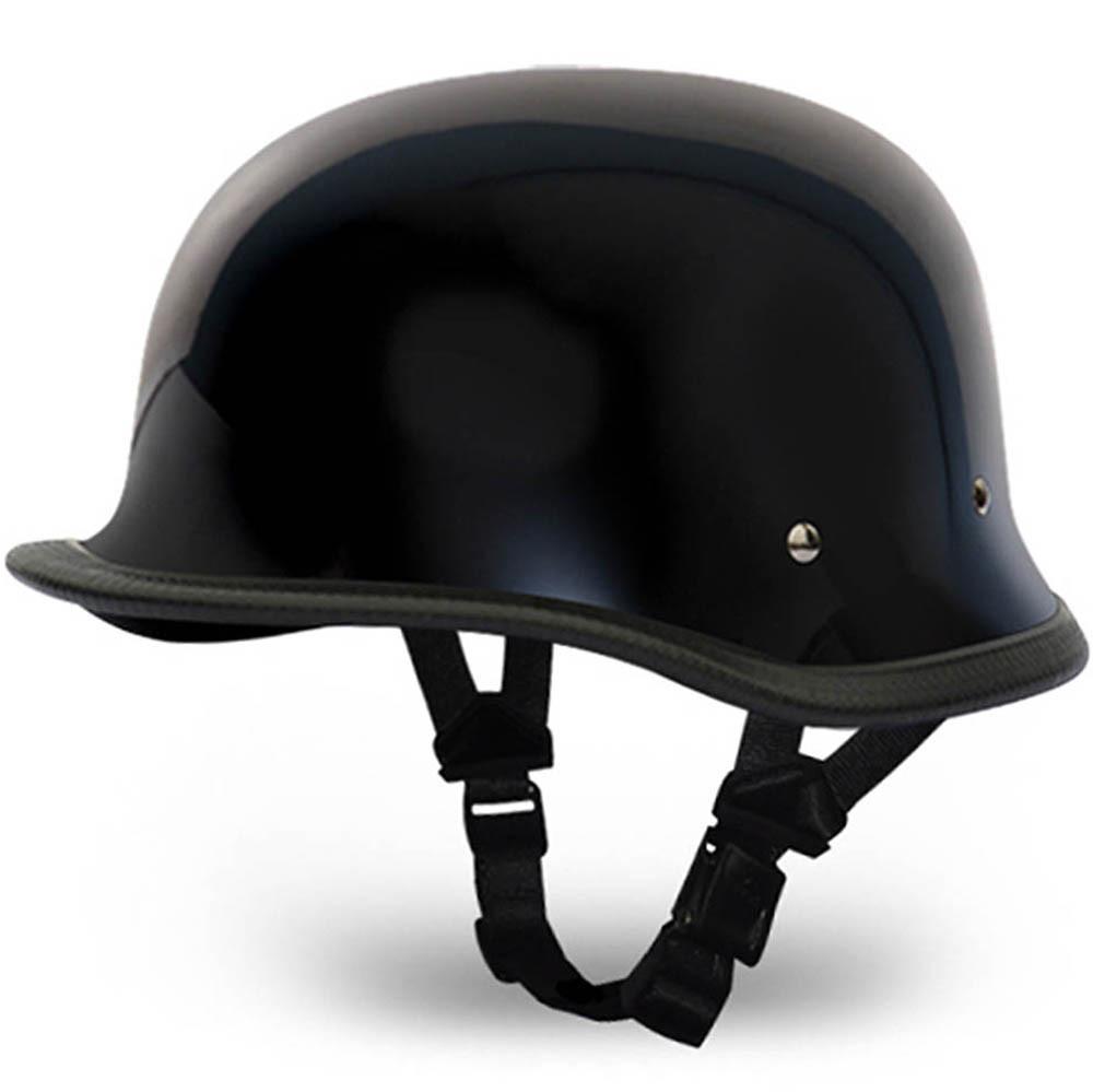 German Novelty Motorcycle Helmet   Black German Novelty Helmet by Daytona XS-2XL
