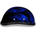 Novelty Helmet - Flames Blue by Daytona - 6002 FB