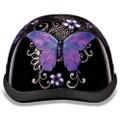 Purple Butterfly Novelty Motorcycle Helmet by Daytona Helmets XS S M L XL 2XL