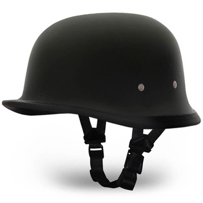Matte Black German Novelty Helmet | Flat Black Novelty Helmet by Daytona XS-2XL