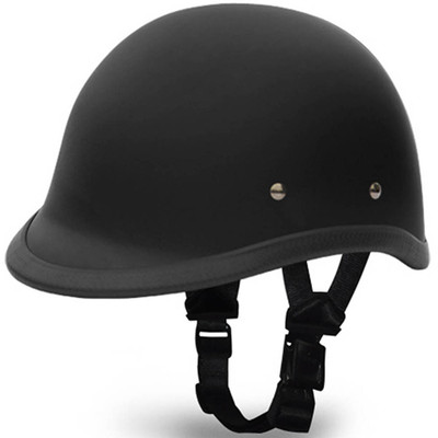 Flat Black Hawk Novelty Motorcycle Helmet | Polo Helmet by Daytona XS-2XL
