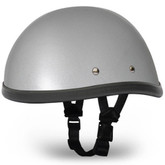 Silver Metallic Novelty Motorcycle Helmets | Novelty Helmet by Daytona XS-2XL