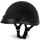 Flat Black Smokey w Visor Novelty Motorcycle Helmet by Daytona Helmets XS-2XL